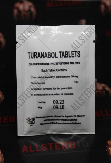 Туранабол 10 мг от British Dragon